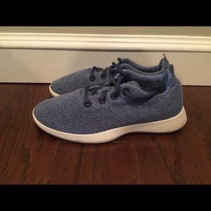 Allbirds blue tweed washable wool sneakers 10